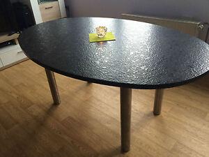 esstisch oval granit
