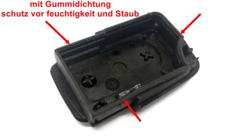3Tasten Ersatz Klappschlüssel Gehäuse mit Gummidichtung für VW AUDI SEAT SKODA