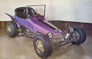 Vintage Cushenberry Car Craft Dream Rod Giant Photo POSTCARD Show Hot Gasser Rat