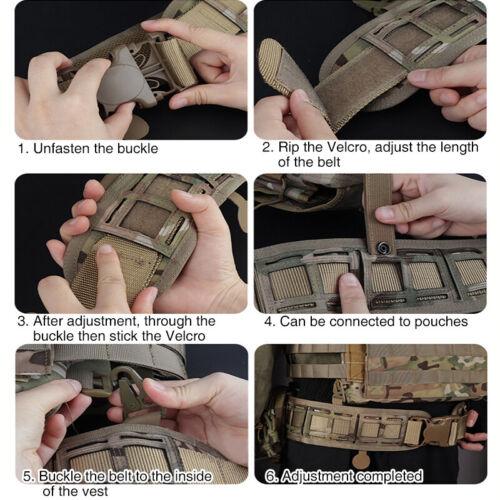 Outer Belt IDOGEAR MOLLE Tactical Belt Quick Release Laser Loading Padded Inner