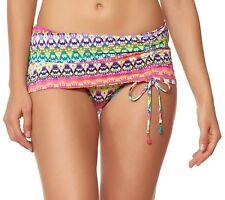 Bleu Rod Beattie In Living Color Printed Swim Skirt 12 Multi Womens Swimsuit
