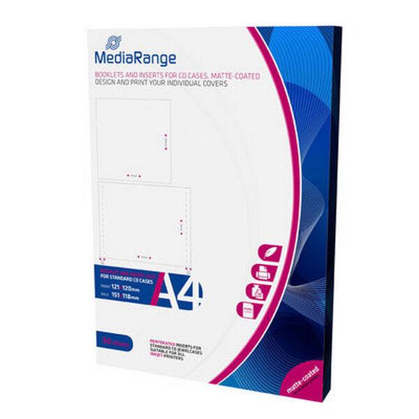 MRINK120 MediaRange Libretti / Inserti per custodie CD Jewel confezione 50