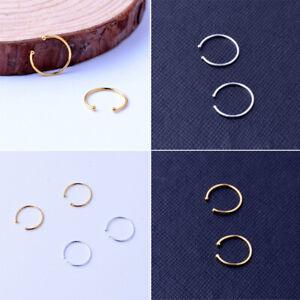 Fake Nose Ring Septum Ring Hoop Cartilage Tragus Small Thin