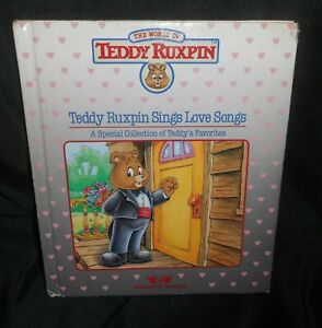 VINTAGE-1985-WORLD-OF-WONDER-TEDDY-RUXPIN-SINGS-LOVE-SONGS-READING-PICTURES-BOOK