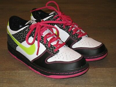 finest selection c4a7d d9a7f EUC Nike Dunk Low GS Basketball Shoes. Multi color. Girls ...