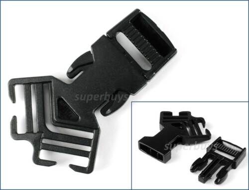 20mm Three 3 Way Multi Point Side Quick Release Buckle Clip Strap Cord Belt Bag