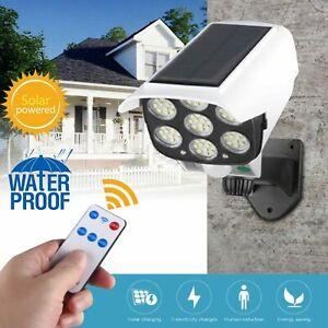 Solar Outdoor Dummy Security Camera Fake Surveillance w/ Motion Sensor LED Light