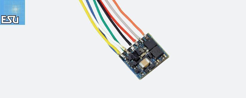 Esu 53620 Locomotive Driver Fx Nano Function Decoder mm   Dc 8-pin Connector New