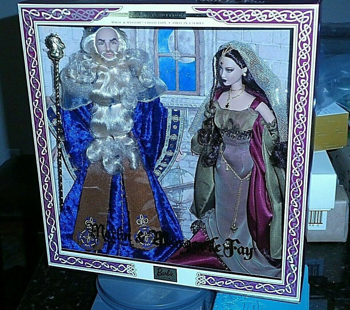 MERLIN THE MAGICIAN & MORGAN le FAY THE ENCHANTRESS GeschenkSET PRISTINE  STUNNING
