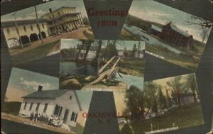 Oakesville-NY-Multi-View-Greeting-c1910-Postcard