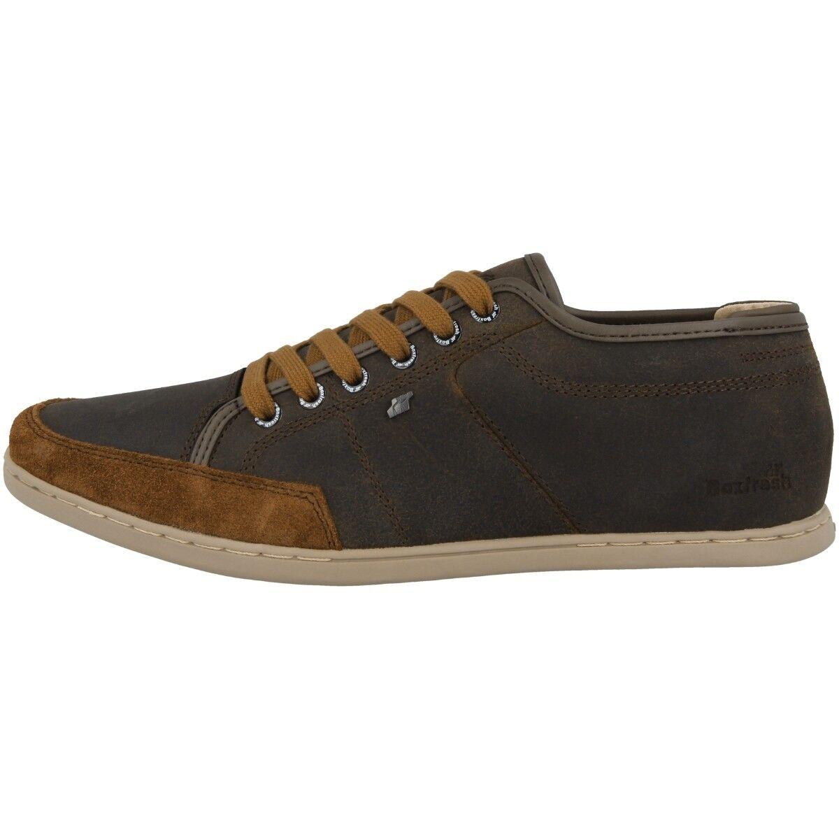 Boxfresh SPARKO Sports Ibrido pelle scarpe uomo SH Sneakers CIOCCOLATO e15363