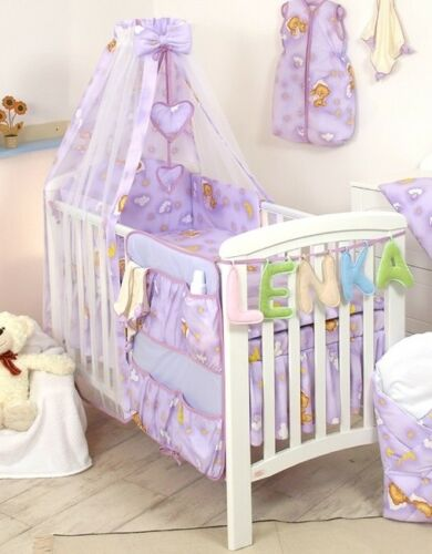 30 MORE DESIGNS PINK TEDDY MOON 2 SIZES BABY BEDDING SET COT or COT BED size