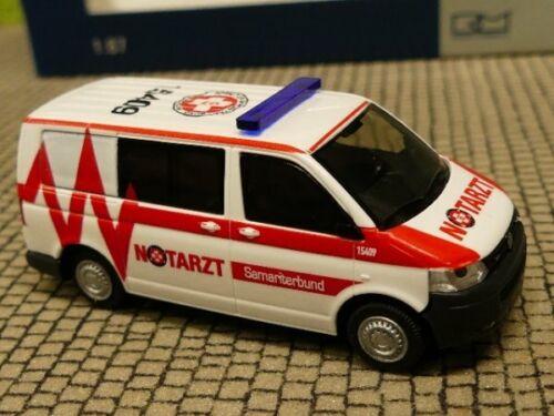 1//87 Rietze VW T5 Notarzt Samariterbund Linz AT 53447