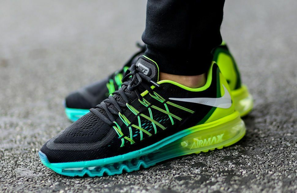 Nike Air Max 2018 Running Sneakers New, Black Blue Lime 698902-003 SKU AA Brand discount