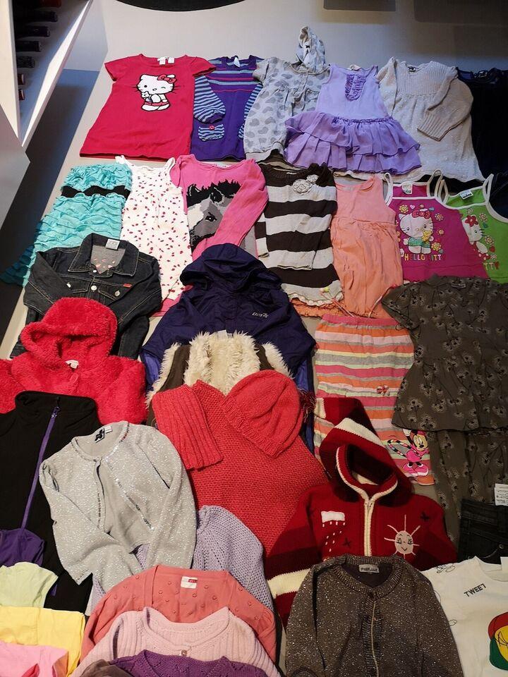 Blandet tøj, Tøjpakke til pige str. 4-5 år, Blandet