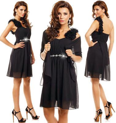 Cocktailkleid Abendkleid Chiffon Kleid mit Stola ...