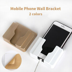 Us Wall Mount Charger Rack Phone Holder Charging Shelf Bracket Durable Shelves Ebay