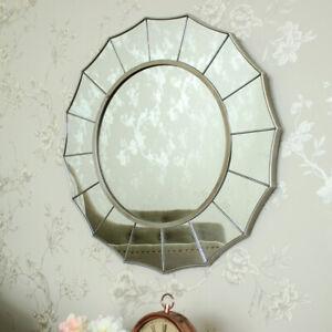 Détails sur Argent Sunburst Art Déco Miroir Mural Shabby Orné Chic Chambre  Salle de Bain