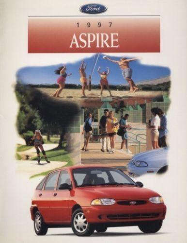 1997 Ford Aspire Kia CDN Original Sales Brochure Book