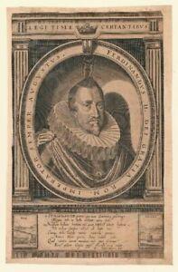 Kupferstich-um-1625-Portrait-Kaiser-Ferdinand-II-Pressburg-Prag-Bratislava