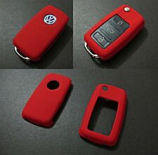 VW Car Remote Flip Key Cover Case Skin Shell Cap Fob Protection ABS Red -2009