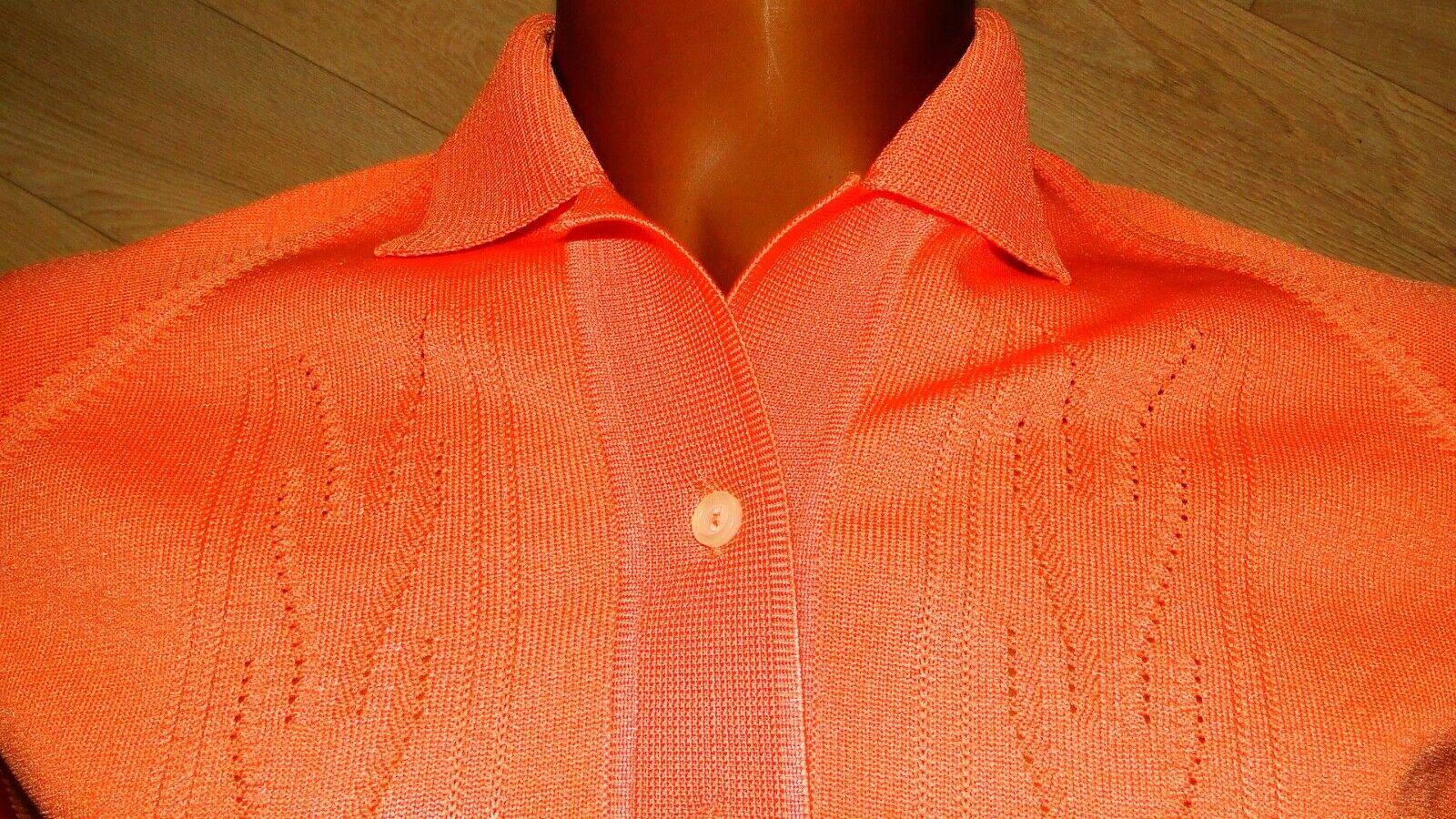 Vintage 60s  Sportswear Cardigan Sweater  Apricot… - image 3