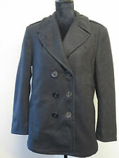 Vintage Ladies 1994 US NAVY PEA COAT Naval Clothing Melton Wool UK 14  Euro 42