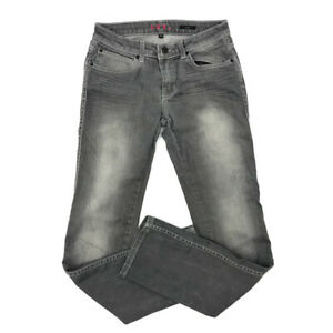 Anthropologie-Lux-Jeans-28-Womens-Straight-Leg-5-Pocket-Fading-Whiskering-Gray