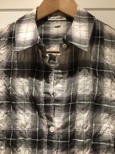 S Cotton Small Shirt Plaid Sleeve Stretch Perse Button 1 Collar Down James Long EgPqnzO