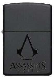 Zippo-Assassin-039-s-Creed-Black-Schwarz-Lighter-Benzin-Sturm-Feuerzeug