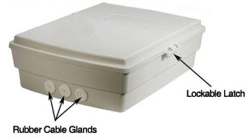 Outdoor Waterproof Enclosure Nema Box Cabinet w// Wifi Label Router Bridges