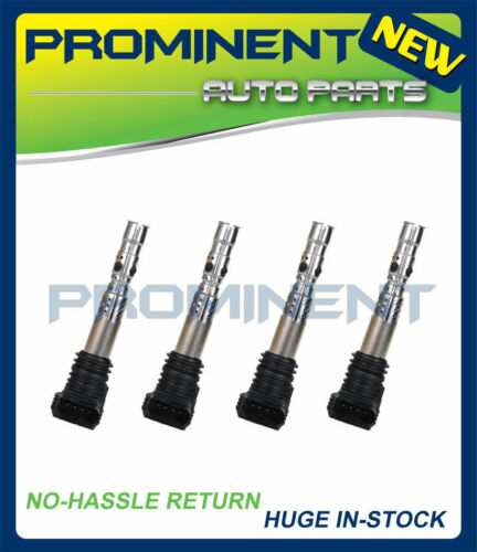 UF411 New Pack of 4 Ignition Coil for AUDI TT A4 Quattro VW 2001-2006