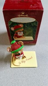 Handled-With-Care-Hallmark-Keepsake-Ornament-1999-Mouse-w-Stamp-amp-Card