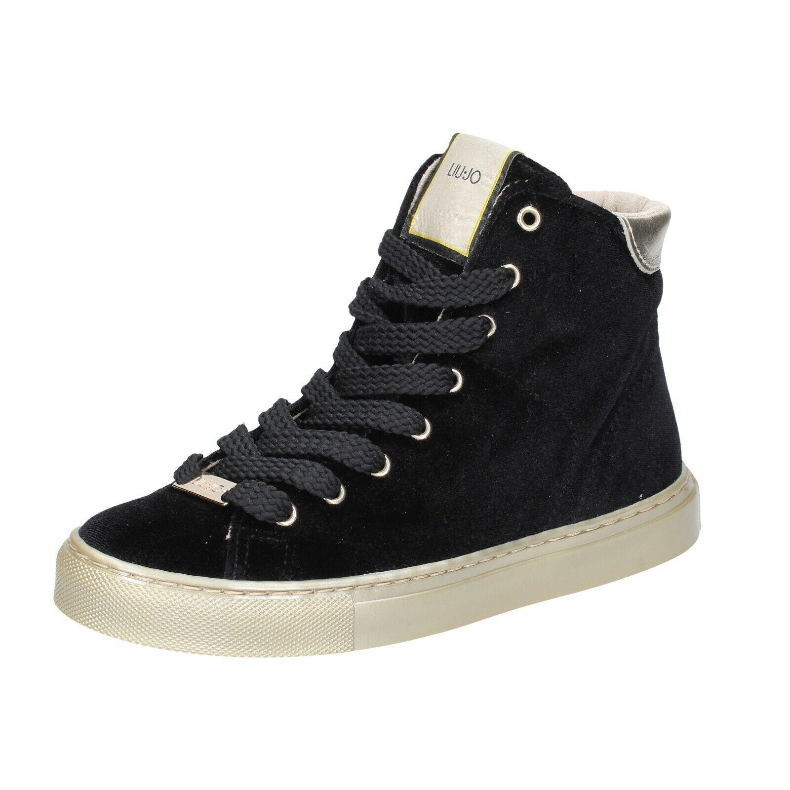 Scarpe donna LIU JO 35 EU scarpe da ginnastica nero velluto BS659-35