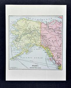 1890 Mathew Northrup 2 Maps Alaska Klondike Gold Region Yukon