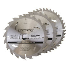 190mm TCT Circular Saw Blades 20, 24, 40 Teeth 3pk 30mm - 20, 16mm Rings Bore