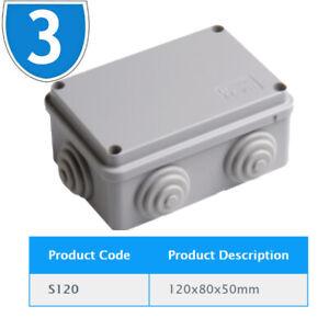 3x Weatherproof Ip55 Junction Box Grommets Outdoor Exterior Electrical Cctv Wire Ebay