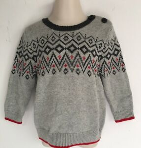 a0fad0975db6 Baby GAP Boy s Gray Sweater Size 6-12 Mo NWT