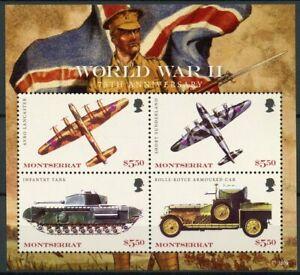 Aimable Montserrat 2018 Neuf Sans Charnière Wwii Ww2 Guerre Mondiale Ii 4 V M/s Aviation Militaire Chars Timbres-afficher Le Titre D'origine