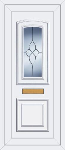 WHITE FULL HEIGHT UPVC DOOR PANEL *REAGAN ONE* CLUSTER RESIN BEVELS
