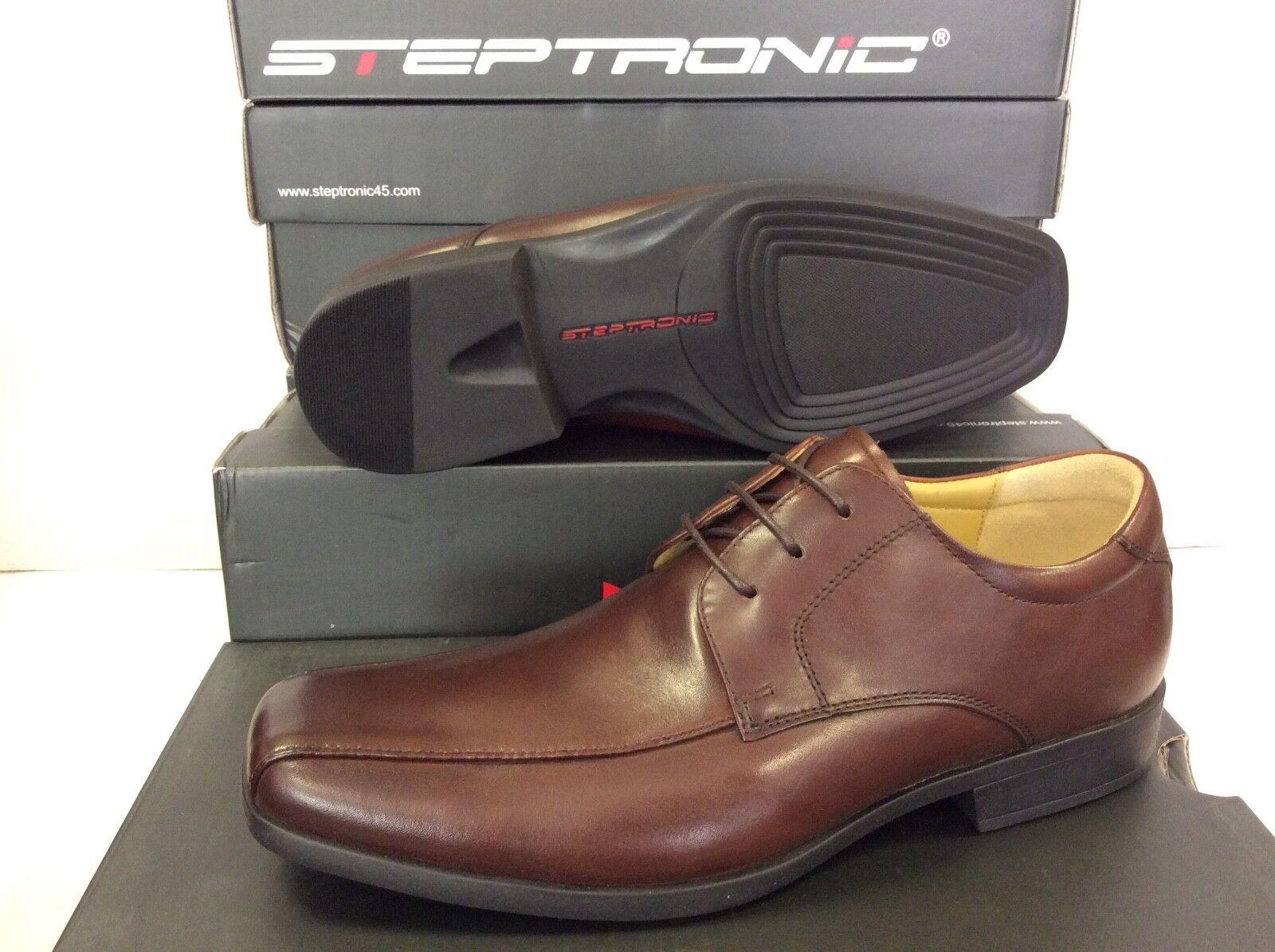 Steptronic Wistow Lace Up Dark braun Waxed Leather Mens schuhe, Größe UK 12  EU 46    | Garantiere Qualität und Quantität
