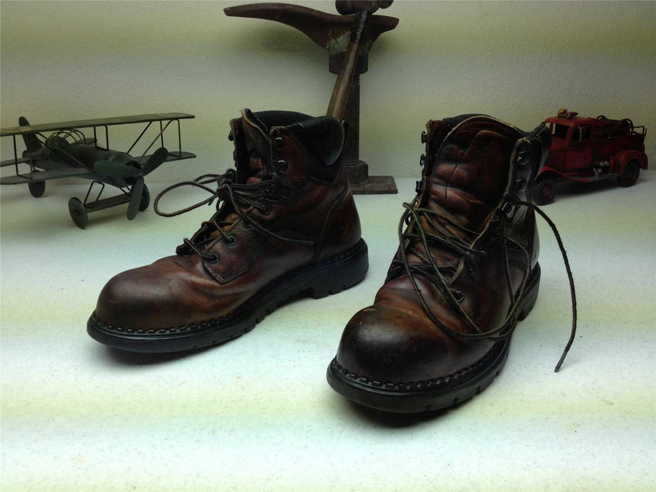 RED WING 2226 BROWN LACE UP STEEL TOE TOE TOE WORK FARM CHORE TRUCKER BOOTS SIZE 9.5 B 942b56