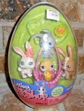 Littlest Pet Shop 2005 RARE KB TOYS Egg 3 Bunnies, chick 3 13 14 28 easter