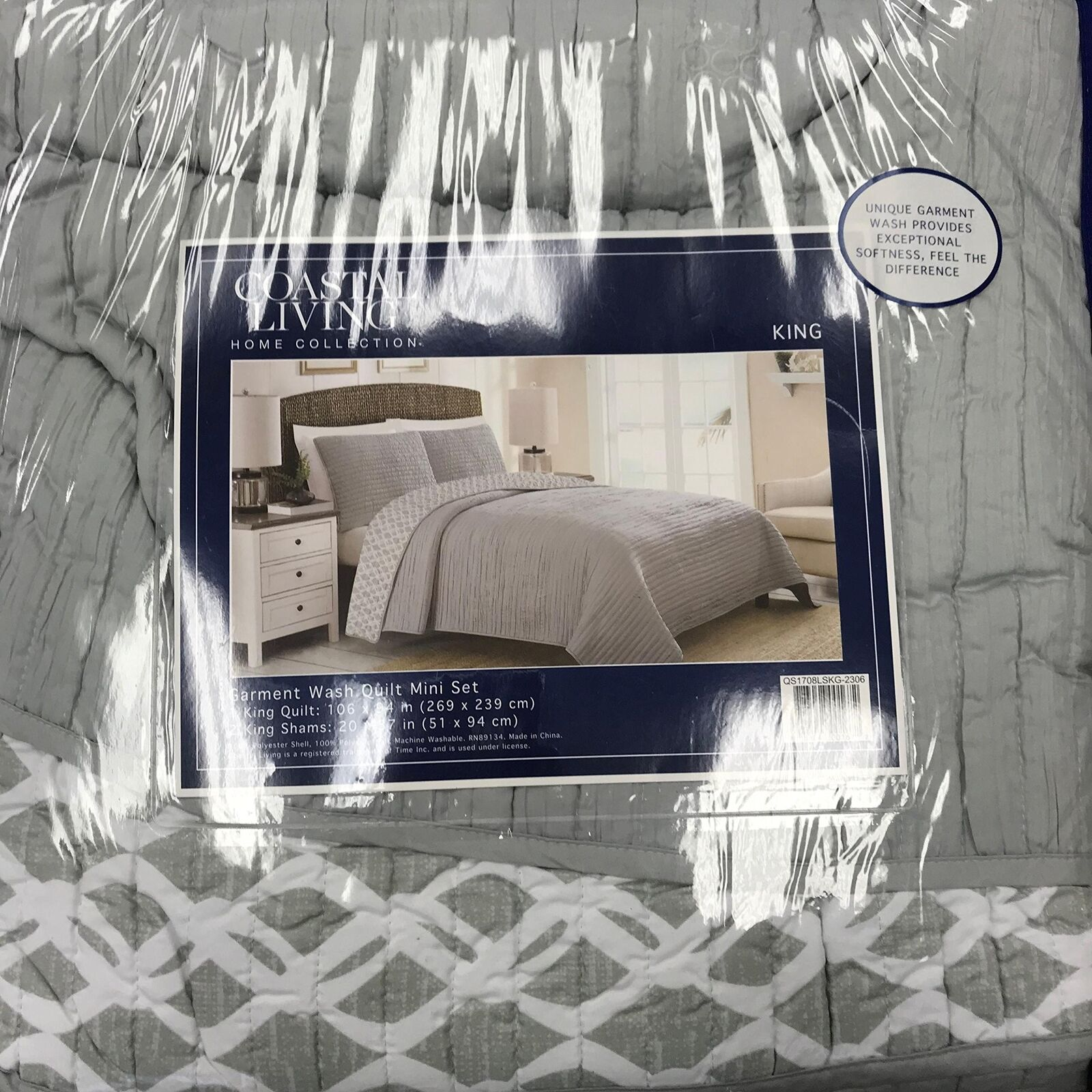Extra-Soft Garment-Washed Reversible Quilt Set