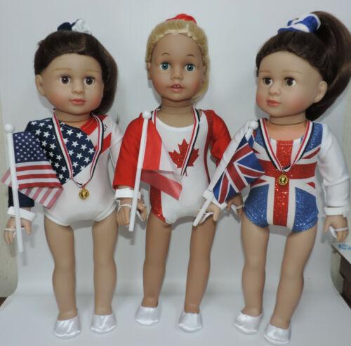 "6 piece Gymnastics Set Fits 18/"" American Girl and Similar Dolls"