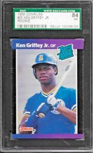 Details About 1989 Donruss Baseball Ken Griffey Jr Rookie Card 33 Sgc 84 Near Mint