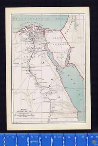 Ancient Egypt by von Steinwehr - Antique 1885 Map Print | eBay on