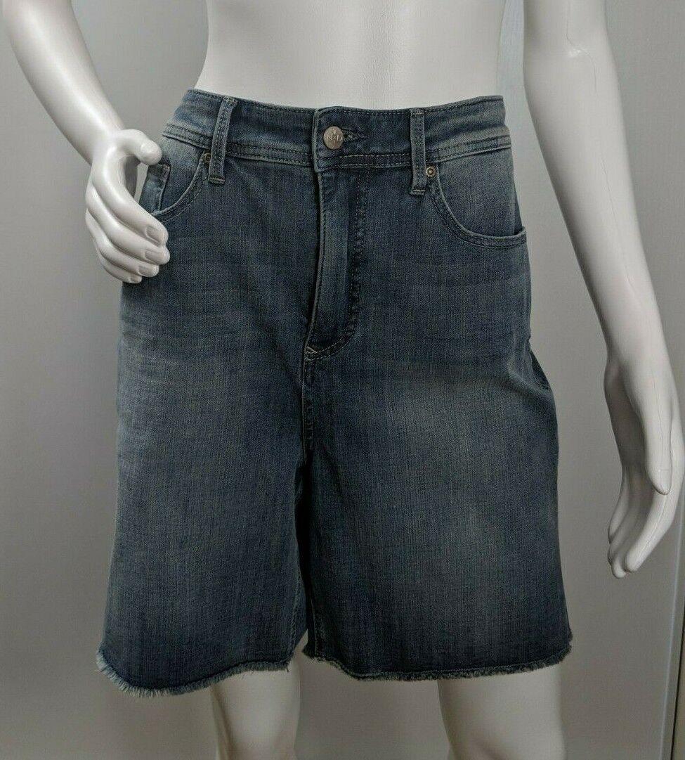 NYDJ Shorts Size 18 Curves 360 Denim Shape Raw Hem Short Light Wash Stretch New