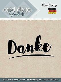 CDECS001 Stempelplatte von Card Deco Clearstamp Textstempel Für Dich