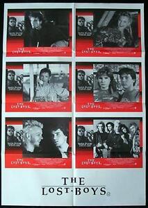 THE-LOST-BOYS-87-Very-Rare-VAMPIRE-Photo-Sheet-Lobby-Card-Movie-poster